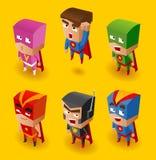 Insieme del supereroe Fotografia Stock Libera da Diritti