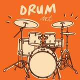 Insieme del tamburo Fotografia Stock