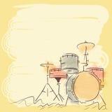 Insieme del tamburo dello strumento musicale Fotografia Stock