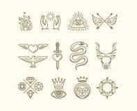 Insieme del tatuaggio di vettore Fotografia Stock