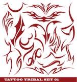 Insieme del tatuaggio tribale Immagini Stock
