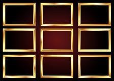 Insieme del telaio dorato Fotografia Stock