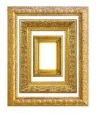 Insieme del telaio dorato dell'annata Immagini Stock