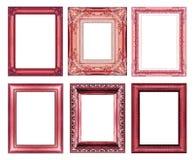 Insieme del telaio rosso d'annata con spazio Fotografie Stock Libere da Diritti