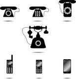 Insieme del telefono dell'icona Immagini Stock Libere da Diritti