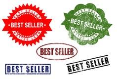 Insieme del timbro di gomma del segno del best-seller Immagini Stock