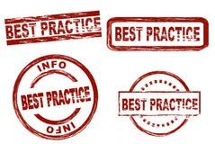 Insieme del timbro a umido di best practice immagini stock