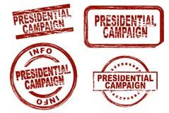 Insieme del timbro a umido di campagna presidenziale Fotografie Stock Libere da Diritti