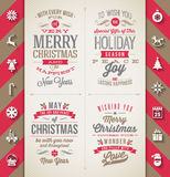 Insieme del tipo progettazioni di Natale Fotografie Stock Libere da Diritti