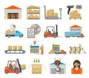 Insieme del trasporto del magazzino Fotografia Stock Libera da Diritti