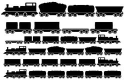 Insieme del treno del carico illustrazione vettoriale