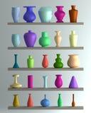 Insieme del vaso di colore Fotografia Stock