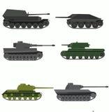 Insieme del veicolo da combattimento militare russo Immagine Stock