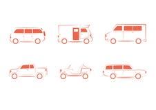 Insieme del veicolo, del trasporto, del camion e del vagone illustrazione di stock