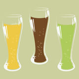 Insieme del vetro di birra Fotografia Stock