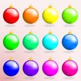 Insieme del vettore colorato multi dei giocattoli di Natale Immagine Stock