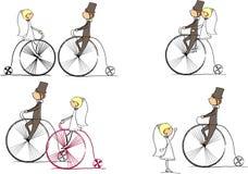 insieme del vettore dello sposo e della sposa Immagini Stock