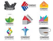 Insieme del vettore di logo di nome di società Fotografie Stock