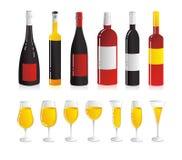 Insieme del vino Fotografia Stock