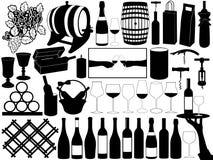 Insieme del vino Immagine Stock Libera da Diritti
