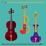 Insieme del violino Immagine Stock