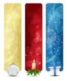 Insieme del volume verticale 01 delle bandiere di natale di inverno royalty illustrazione gratis