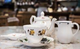 Insieme delicato della tazza di tè Fotografie Stock