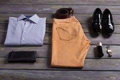 Insieme dell'abbigliamento degli uomini di affari Fotografia Stock