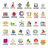 Insieme dell'abbigliamento del logos di vettore Fotografie Stock Libere da Diritti