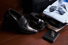 Insieme dell'abbigliamento di affari del ` s degli uomini Fotografia Stock