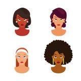 Insieme dell'acconciatura di modello delle donne - illustrazione Fotografia Stock Libera da Diritti