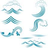 Insieme dell'acqua dei caratteri Fotografia Stock