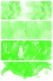 Insieme dell'acquerello verde astratto dipinto a mano Immagine Stock