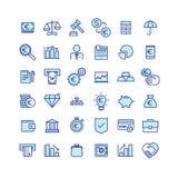 Insieme dell'affare e delle icone di finanza Immagini Stock