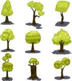Insieme dell'albero dell'illustrazione Fotografie Stock Libere da Diritti