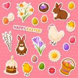 Insieme dell'album per ritagli di Pasqua illustrazione vettoriale