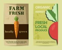 Insieme dell'aletta di filatoio fresca dell'azienda agricola alla moda, modello o royalty illustrazione gratis