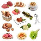 Insieme dell'alimento immagini stock