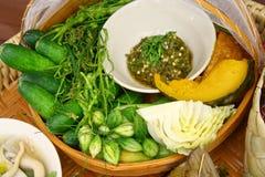 Insieme dell'alimento di Chiang Mai, Tailandia fotografie stock