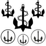 Insieme dell'ancoraggio Immagine Stock