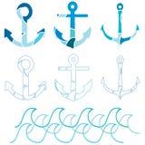 Insieme dell'ancoraggio royalty illustrazione gratis
