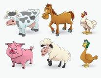 Insieme dell'animale da allevamento Fotografia Stock Libera da Diritti
