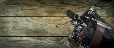 Insieme dell'annata del barbiere Immagine Stock Libera da Diritti