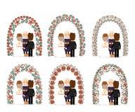 Insieme dell'arco di nozze royalty illustrazione gratis