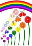 Insieme dell'arcobaleno Fotografia Stock
