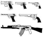 Insieme dell'arma illustrazione di stock