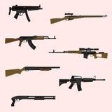 Insieme dell'arma da fuoco Fotografia Stock Libera da Diritti