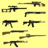 Insieme dell'arma da fuoco Immagini Stock