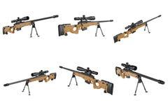 Insieme dell'arma del tiratore franco del fucile Fotografia Stock