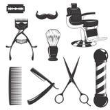 Insieme dell'attrezzatura del parrucchiere illustrazione di stock